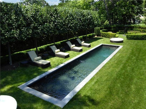 The landscape post design hildreth lane bridgehampton for Narrow pools